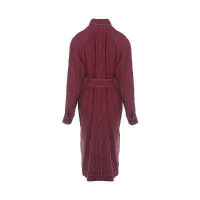 stitch detail raglan sleeve dress wine 2